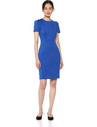 a4211f29 Calvin Klein Women's Short Sleeved Sheath with Princess Seams Dress