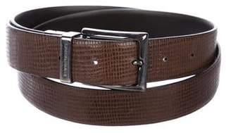 Giorgio Armani Embossed Leather Belt