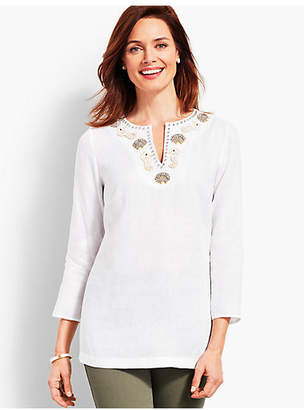 Talbots Beaded Tunic-Seashell and Seahorse