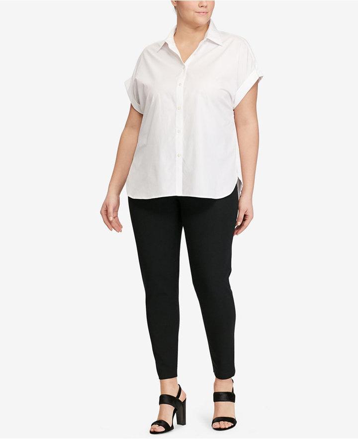 Lauren Ralph LaurenLauren Ralph Lauren Plus Size Cotton Poplin Shirt