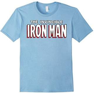 Marvel The Invincible Iron Man Ultimate Retro Logo T-Shirt