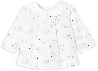 Jacadi Girls' Kitten-Print Top - Baby