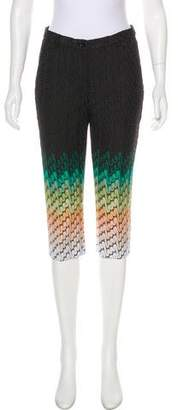 Missoni Crochet Mid-Rise Cropped Pants