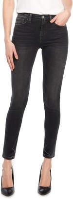 Flying Monkey Black Wash Distressed Skinny Jeans