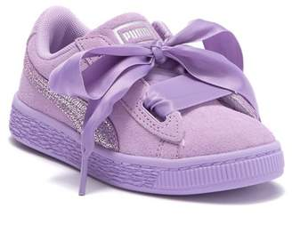 Puma Suede Heart Glitz Sneaker (Little Kid)