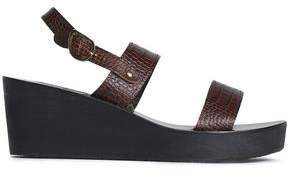 Ancient Greek Sandals Leather Wedge Sandals