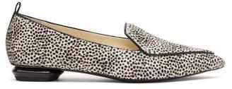 Nicholas Kirkwood Beya Leopard Print Calf Hair Loafers - Womens - Black White