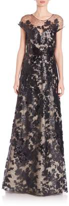 Rene Ruiz Collection Sequined Lace A-Line Gown