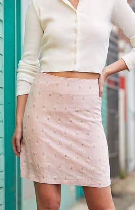 John Galt Pink Phoebe Midi Skirt
