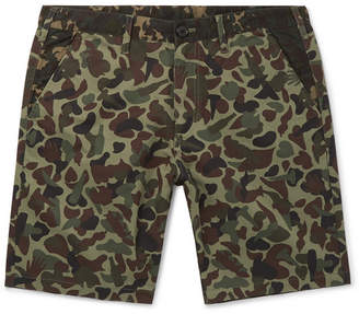 Paul Smith Camouflage-Print Cotton Shorts