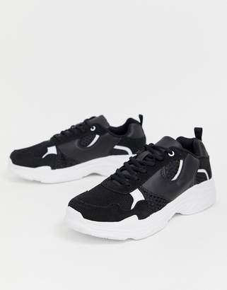 Brave Soul sneakers in black with chunky sole