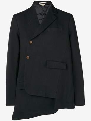 Comme des Garcons asymmetric off-centre buttoned blazer