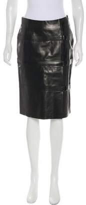Plein Sud Jeans Knee-Length Leather Skirt