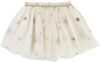 Billieblush Glitter & Sequin Star Tulle Skirt, Size 4-8
