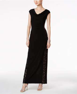 Connected Sequined Illusion-Side Gown $89 thestylecure.com