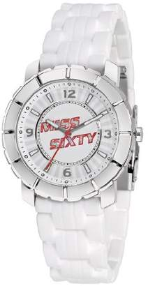 Miss Sixty Ladies Watch Sij004 In Collection Star, 3 H and S, White Dial and White Strap