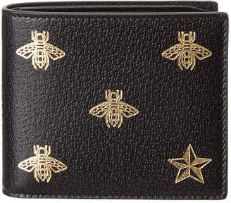 Gucci Bee & Star Leather Bifold Wallet