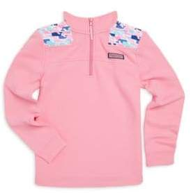 Vineyard Vines Little Girl's& Girl's Multi-Whale Cotton Shep Shirt