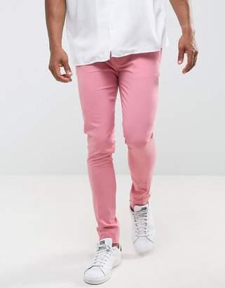 Asos Design Super Skinny Smart Pants in Pink