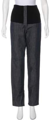 Tibi High-Rise Straight-Leg Jeans w/ Tags