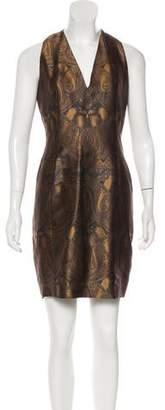 Akris Jacquard Mini Dress