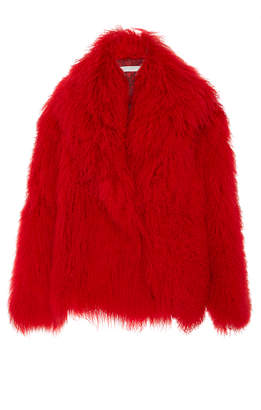 Philosophy di Lorenzo Serafini Short Mongolian Fur Coat
