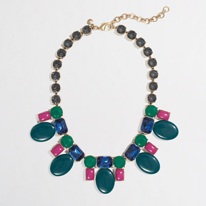J.Crew Factory Factory crystal candy necklace