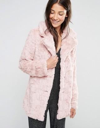Glamorous Faux Fur Coat $78 thestylecure.com