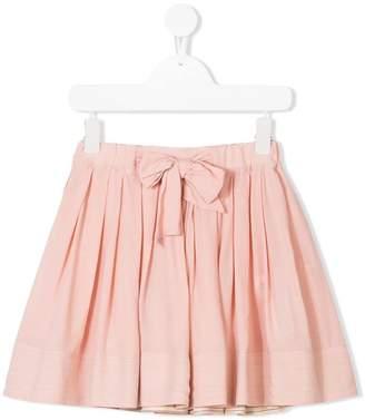 Bellerose Kids bow waist pleated skirt