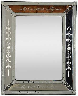 One Kings Lane Vintage Vintage Venetian-Style Etched Mirror - Castle Antiques & Design