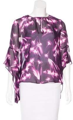 BCBGMAXAZRIA Printed Silk Blouse w/ Tags