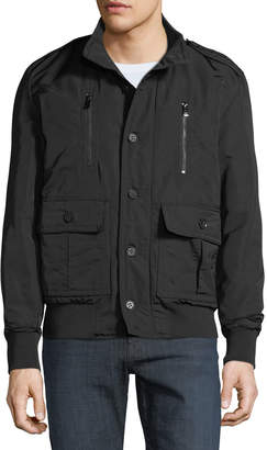 Jared Lang Men's Button-Front Military Jacket