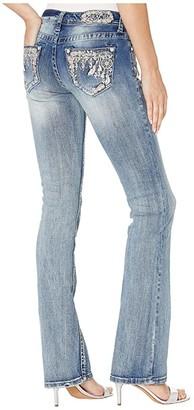 Grace in LA Dream Catcher Bootcut Jeans in Medium Blue