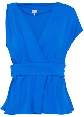 Emilio Pucci Wrap-Effect Pleated Jersey Top