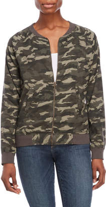 Beach Lunch Lounge Camouflage Bomber Jacket