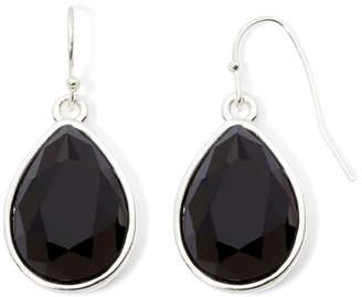 Liz Claiborne Black Stone Teardrop Earrings