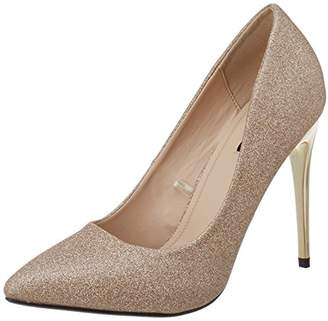 df132fcec0f9 Quiz Women's Glitter Court Ankle Strap Sandals,40 EU