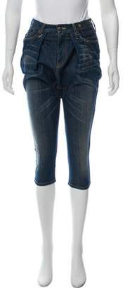 R 13 High-Rise Drop-Crotch Cropped Jeans