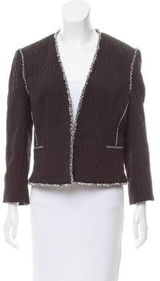 L'Agence Frayed Trim Jacket