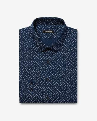 Express Extra Slim Floral Pattern Dress Shirt
