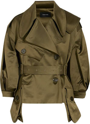 Cotton-blend Sateen Jacket - Army green