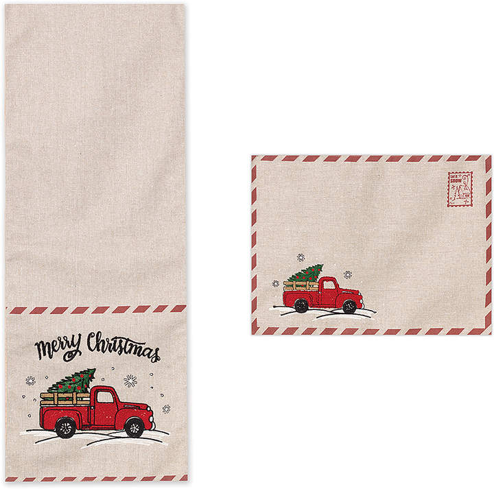 Holiday Truck Table Runner & Place Mat Set