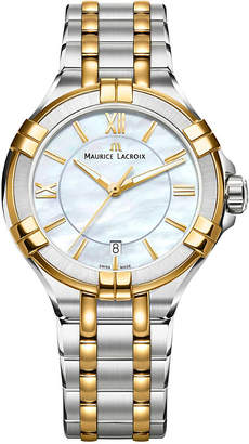 Maurice Lacroix AI1006-PVY13-160-1 Aikon stainless steel and mother-of-pearl watch