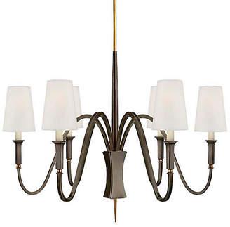 Visual Comfort & Co. Delphia Small Chandelier - Bronze/Antiqued Brass