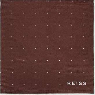 Reiss Planet - Silk Twill Pocket Square in Copper