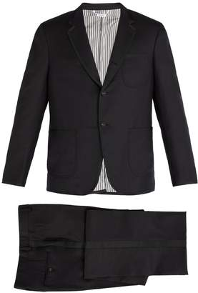 Thom Browne Contrast-trim wool tuxedo