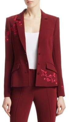 Cinq à Sept Gabrielle Floral Embroidered Blazer