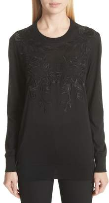Dolce & Gabbana Lace Applique Cashmere & Silk Sweater
