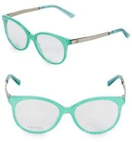 Gucci 52MM Cat Eye Optical Glasses