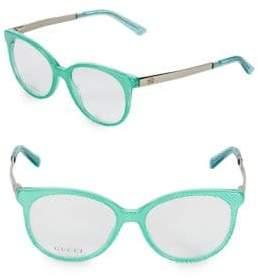 Gucci 52MM Cat Eye Optical Glasses